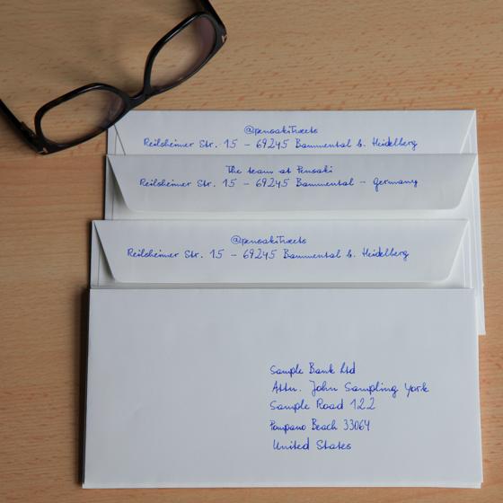 Briefumschlag Beschriften Rückseite : Pensaki ihr digitaler privatsekretär
